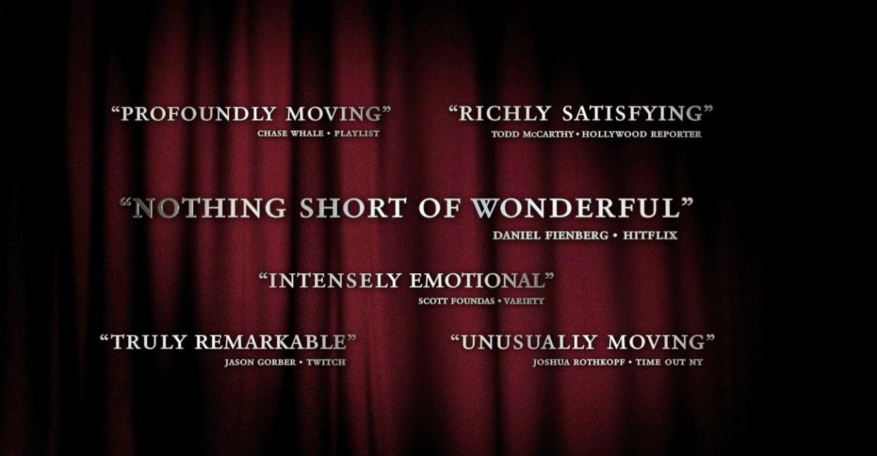 Extremely honored to have my review of LIFE ITSELF quoted in the trailer, the documentary on the late, great  Roger Ebert . Wow.    Watch:  http://trailers.apple.com/trailers/magnolia/lifeitself/