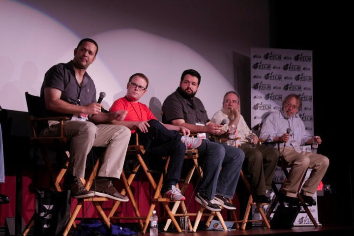 At the 2010 Austin Film Festival, I was on a film criticism panel with (from left) Dallas Morning News' Chris Vognar, Film School Rejects' Neil Miller,  The New Yorker 's David Denby, and the  Los Angeles Times'  Kenneth Turan. I was beyond honored to be a part of this - it was one of the greatest moments of my life.