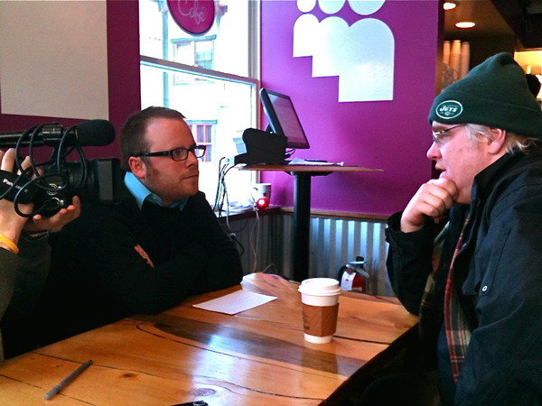Interviewing Philip at the Sundance Film Festival, January 25, 2010.