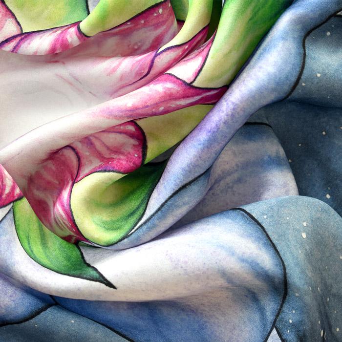 Tarot Cloth Silk Lotus Artismymagic