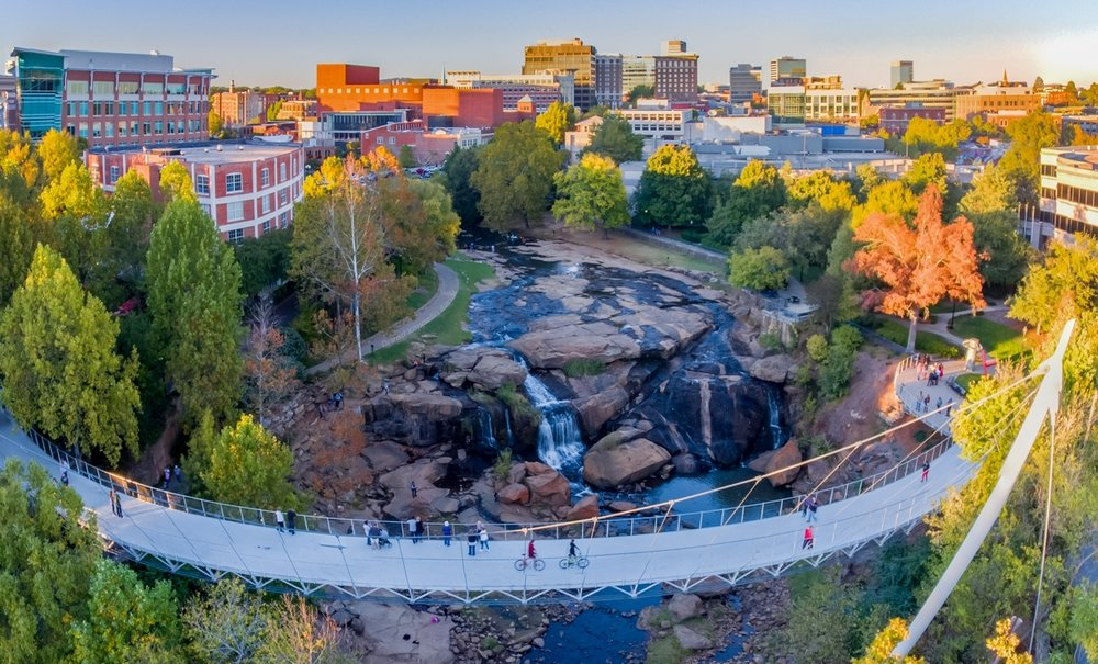 Rolling through downtown Greenville SC - A compilation of several rides and aerial shots through Greenville on the ONewheel +