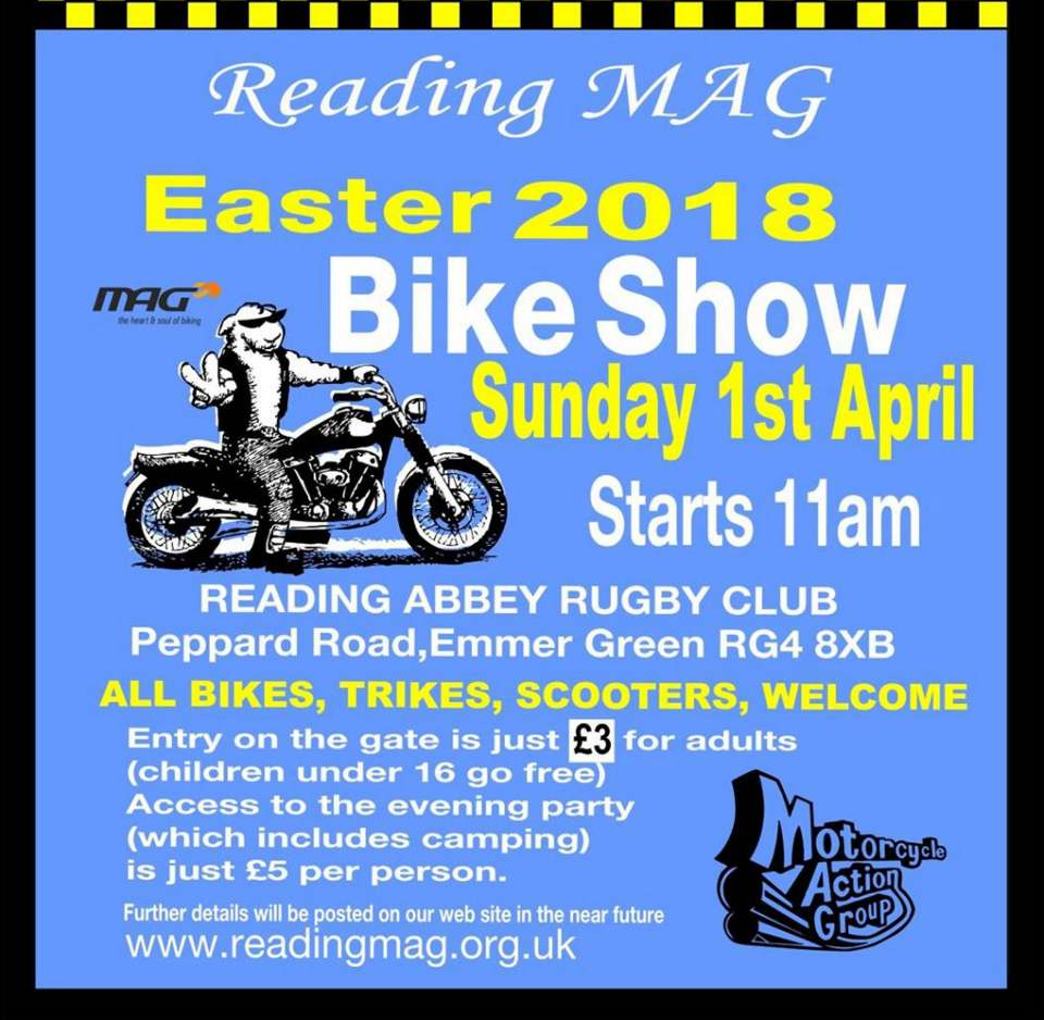 Reading MAG Easter Bike Show