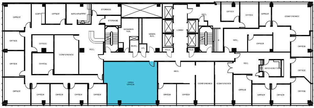 Up to 982sf available on the 13th floor.