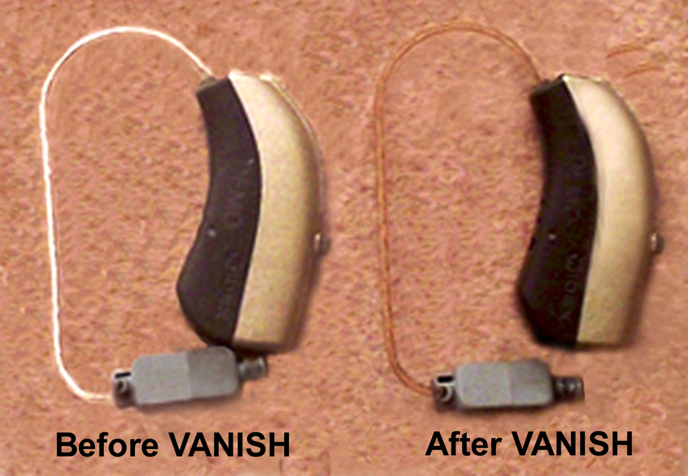 Hearing Aids - Untreated and Treated with VANISH