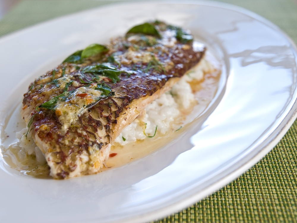 Whole roasted red snapper with thai spices and coconut for Snapper fish recipes