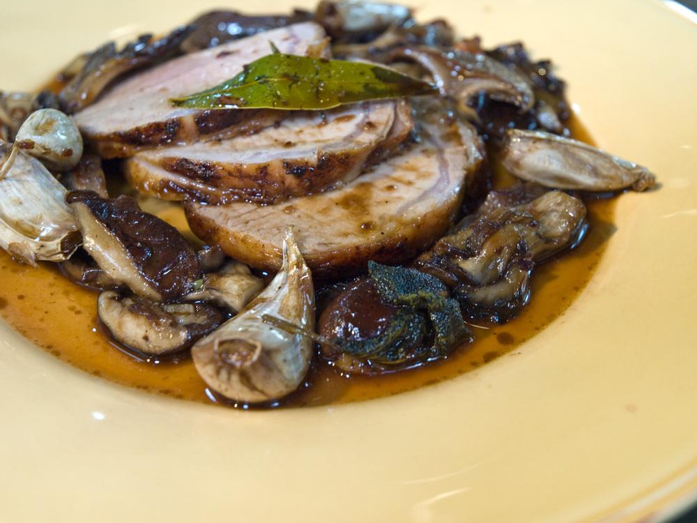 Roasted Pork Loin With Wild Mushrooms Garlic Amp Sage Pan
