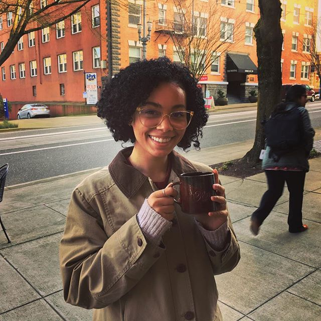 Sydney is so proud to have found her mug from Portland Oregon and we couldn't be more appreciative of her support of local artists. #portland #portlandcoffee #travelportland #traveloregon #nowthatsole #staycaffeinatedmyfriend