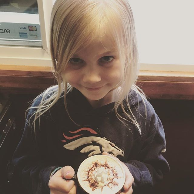 This little ham gets to celebrate her birthday with dad at the cart for a bit today! She loves the window, greeting people and taking orders. Happt Birthday little girl ❤️ ❤️ ❤️ You!#Birthdaygirl #specialday #staycaffeinatedmyfriend