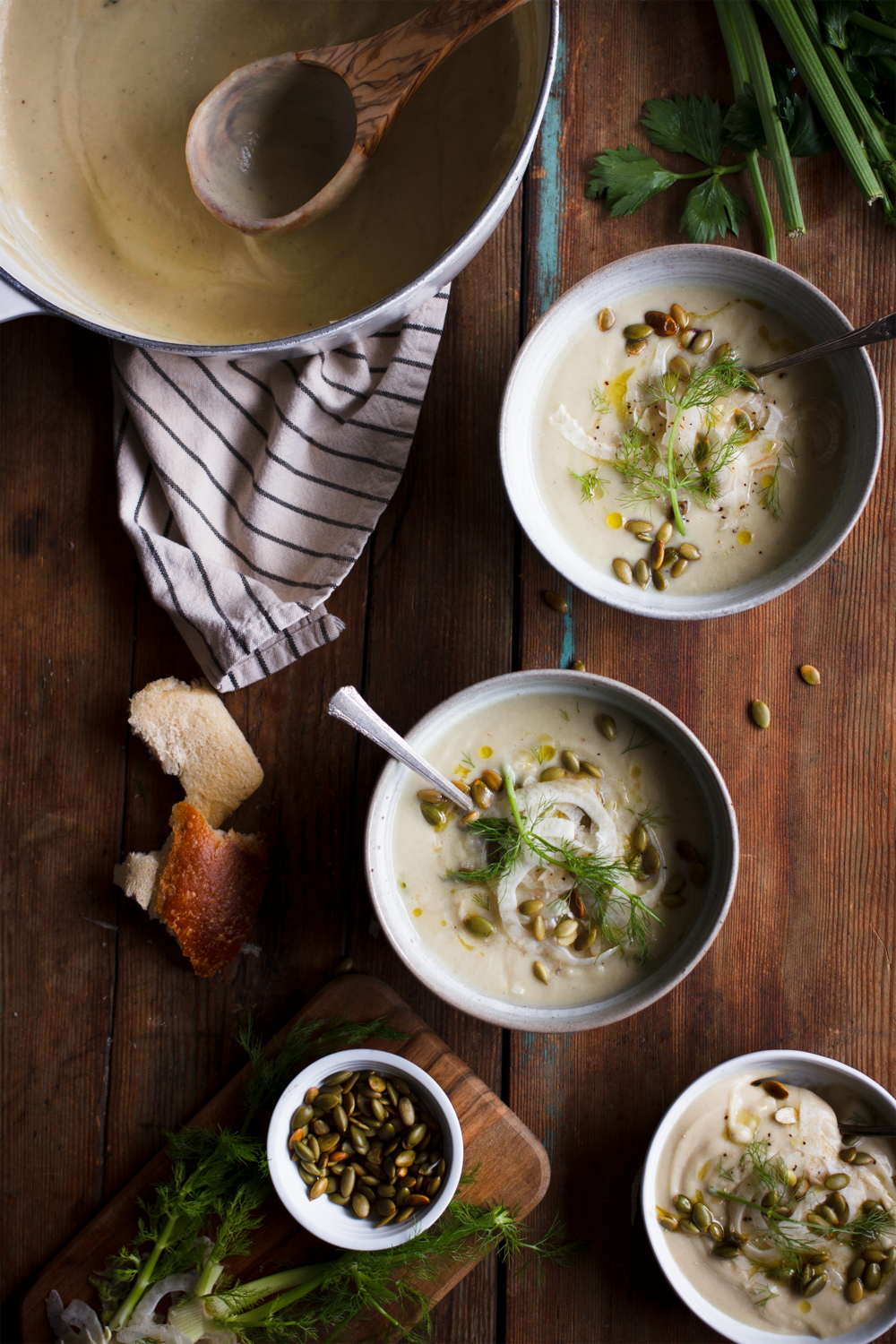Roasted celeriac fennel soup the broken bread its virtual baby shower time and im bringing soup cynthia from two red bowls and her husband andy bowl 2 recently welcomed their son luke bowl 3 freerunsca Images