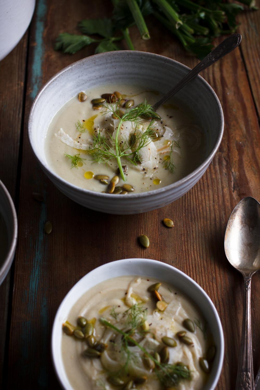 Roasted Celeriac & Fennel Soup — The Broken Bread