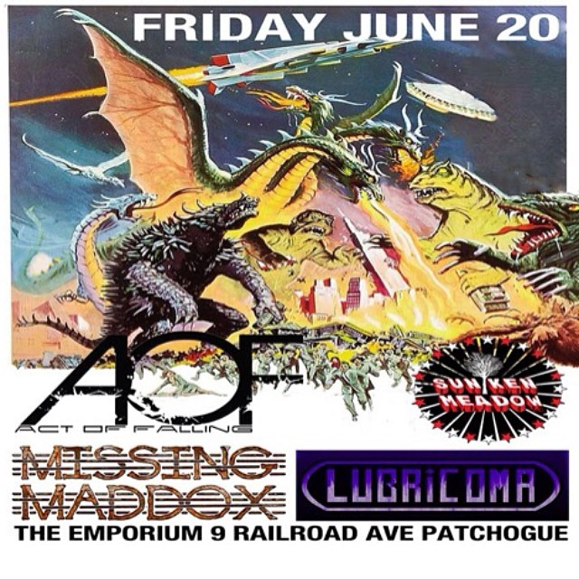 We're all really excited to be playing The Emporium in Patchogue Friday June 20th! Doors are 7pm and we go on at 9pm. $10 cover, 21+.. Get in touch with any of us for tickets. We're going to see Sevendust there on Thursday, this is a sick venue.. Hope we see you there!!! #lubricoma #theemporium #live #patchogue #picoftheday #bestoftheday #instagood #instamood #follow #actoffalling #missingmaddox #sunkenmeadow #sevendust #monsters #bleedingfingersbloodyguitar