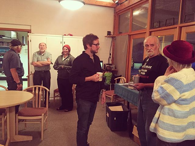 Show 91 - 6/25 - Laural B Johnson Community Center - Coyle, WA. Our host Norm made us his special chicken and rice dinner before showtime. We played two sets recital-style, and enjoyed cookies and coffee afterwards. #coyle #wa #familydinner #recital #nobeer #cookies #thereceiver #thereceivermusic