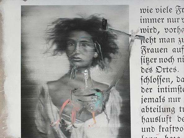 gnom kabyl _ 152 x 202 cm _ oil, ink - pencil on canvas _ 2014 .jpg