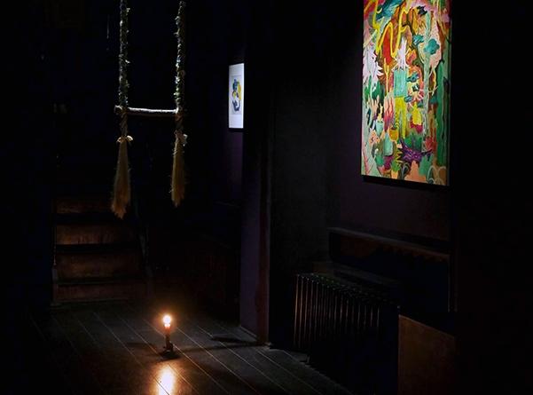 Warosoku - Visite de l'exposition à la bougie pour 'Un Dimanche à la galerie'Galerie Da-End, 23.09.2018