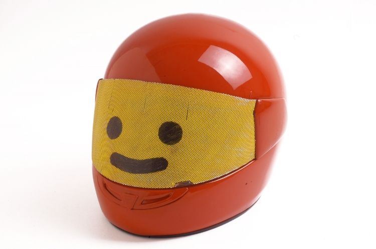 2001  Inkjet visor and plastic helmet