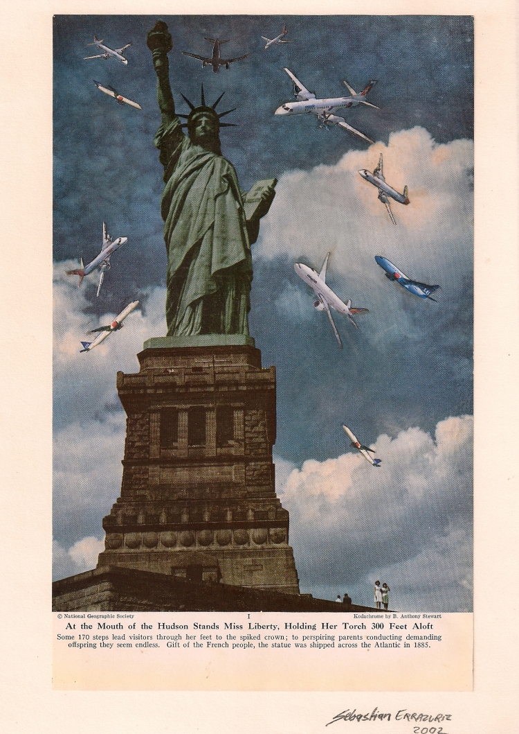 LADY LIBERTY  2008  Collage  10 x 8 in  (25,4 x 20,3cm)