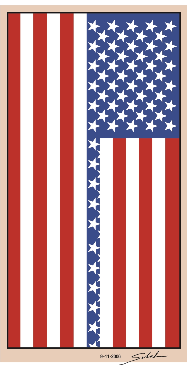 UNITED STATES MEMORIAL FLAG 2006 Inkjet on paper 8 x 10 in  (25,4 x 20,3cm)