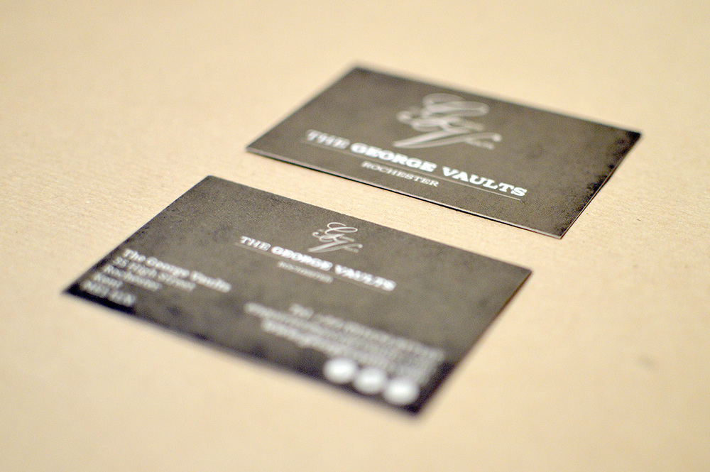 George Vaults business cards