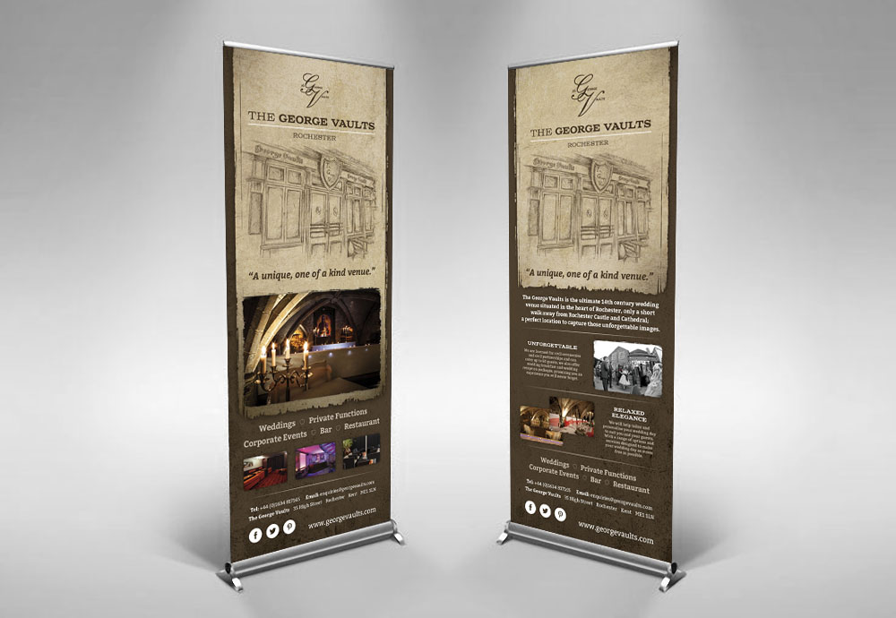 George Vaults roller banners