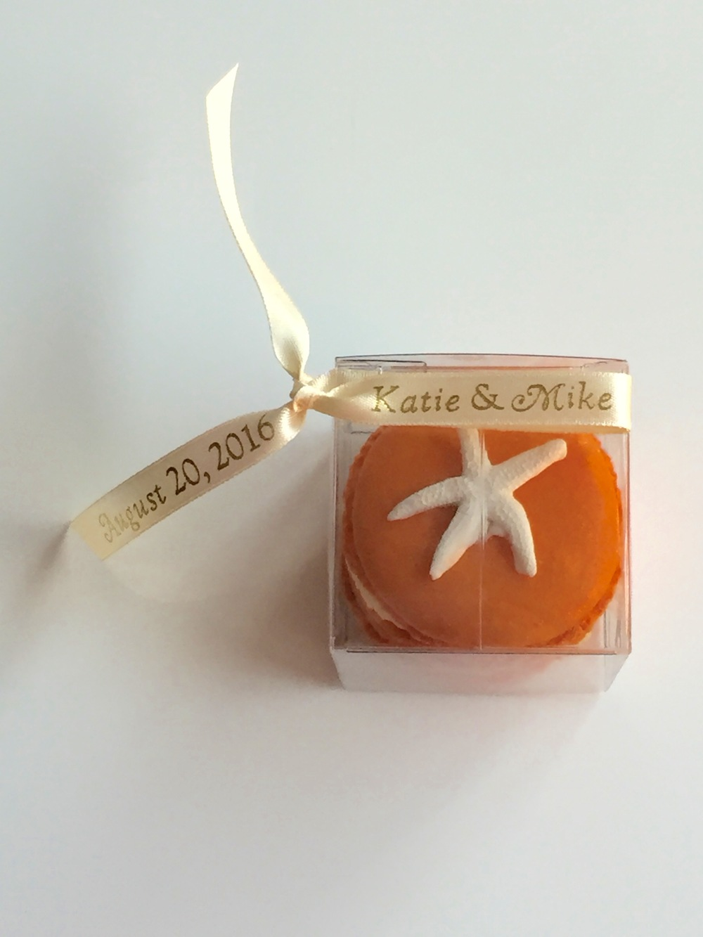 Personalized favors in your choice of ribbon color and metallic font color (gold, rose gold, silver). As shown $7.
