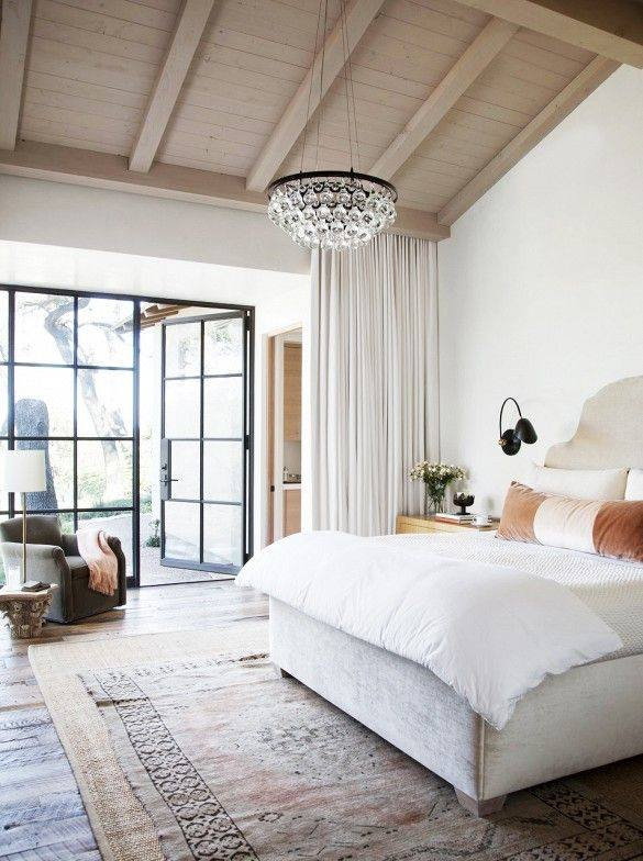 Natural light is a great way to open up a room and bring in some springy cheer! This glass doors and white curtain are the perfect way to add light while still remembering privacy. Try trading out older sliding glass doors for doors with a more industrial, open feel, it's a facelift you won't regret.