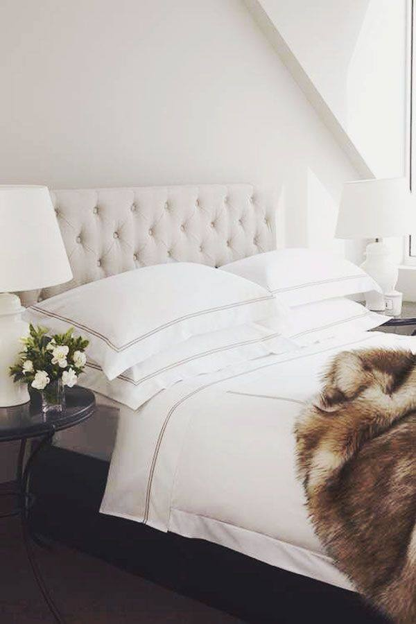 Refresh your bedroom by choosing some great white linens and adding a furry accent blanket to cuddle up in. This looks chic and mature while still being extra comfortable. Let's face it, after a long day at work or with the kids all you really want is a peaceful place to relax!