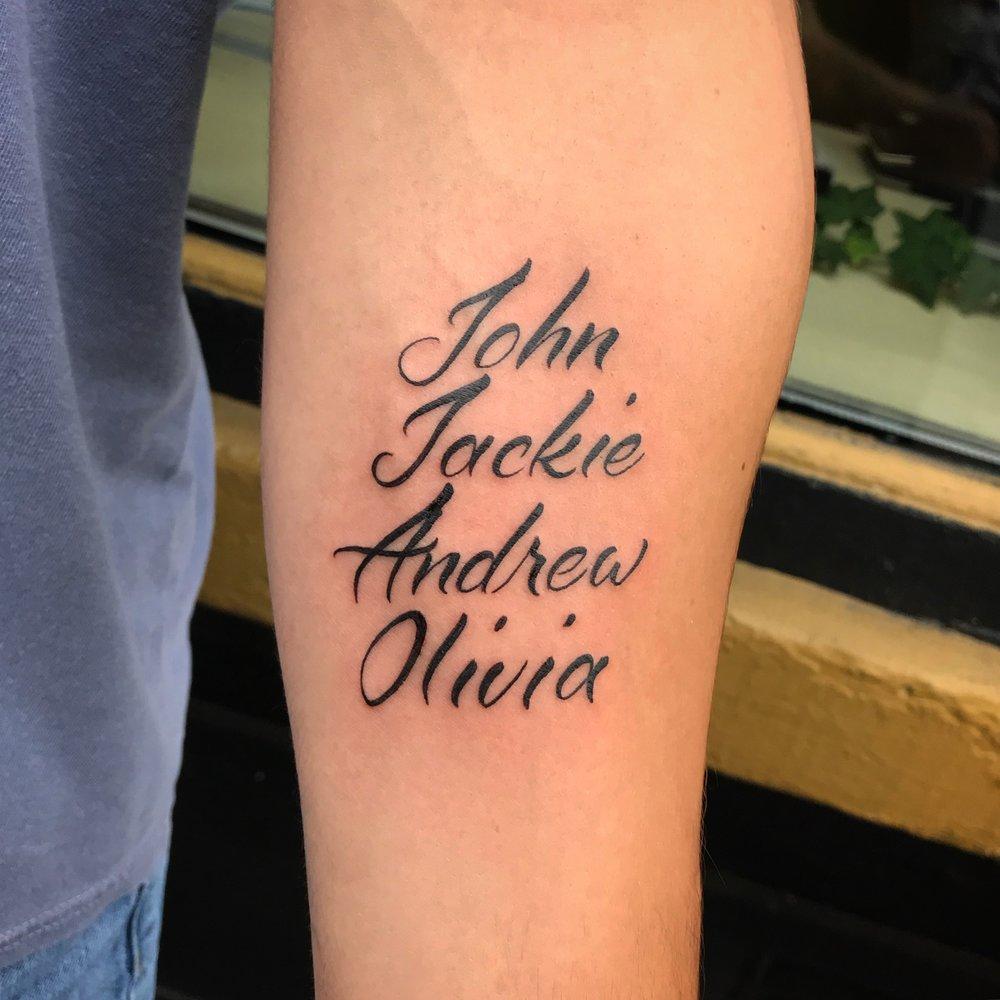 lettering Justin Turkus Philadelphia fine line script custom best Tattoo Artist calligraphy type john jackie andrew olivia names.jpg