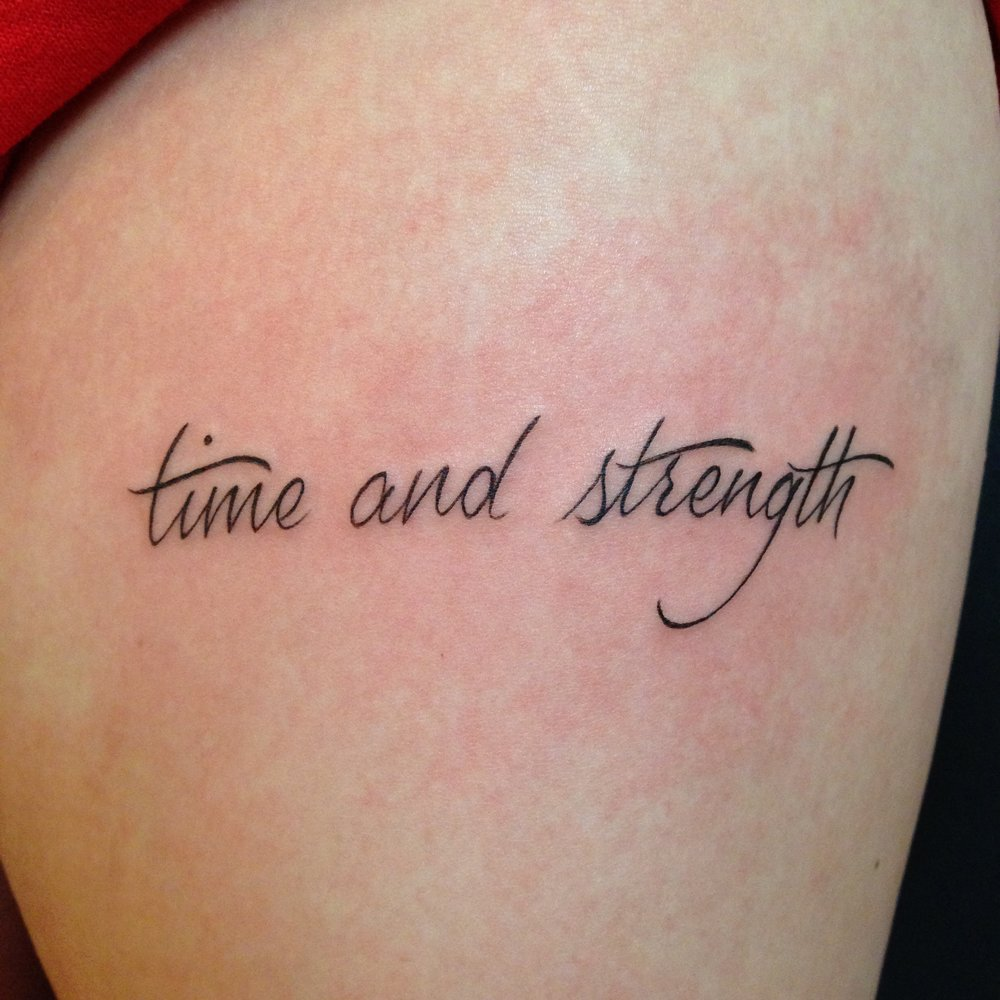 lettering Justin Turkus Philadelphia fine line script custom best Tattoo Artist calligraphy type time strength.jpg