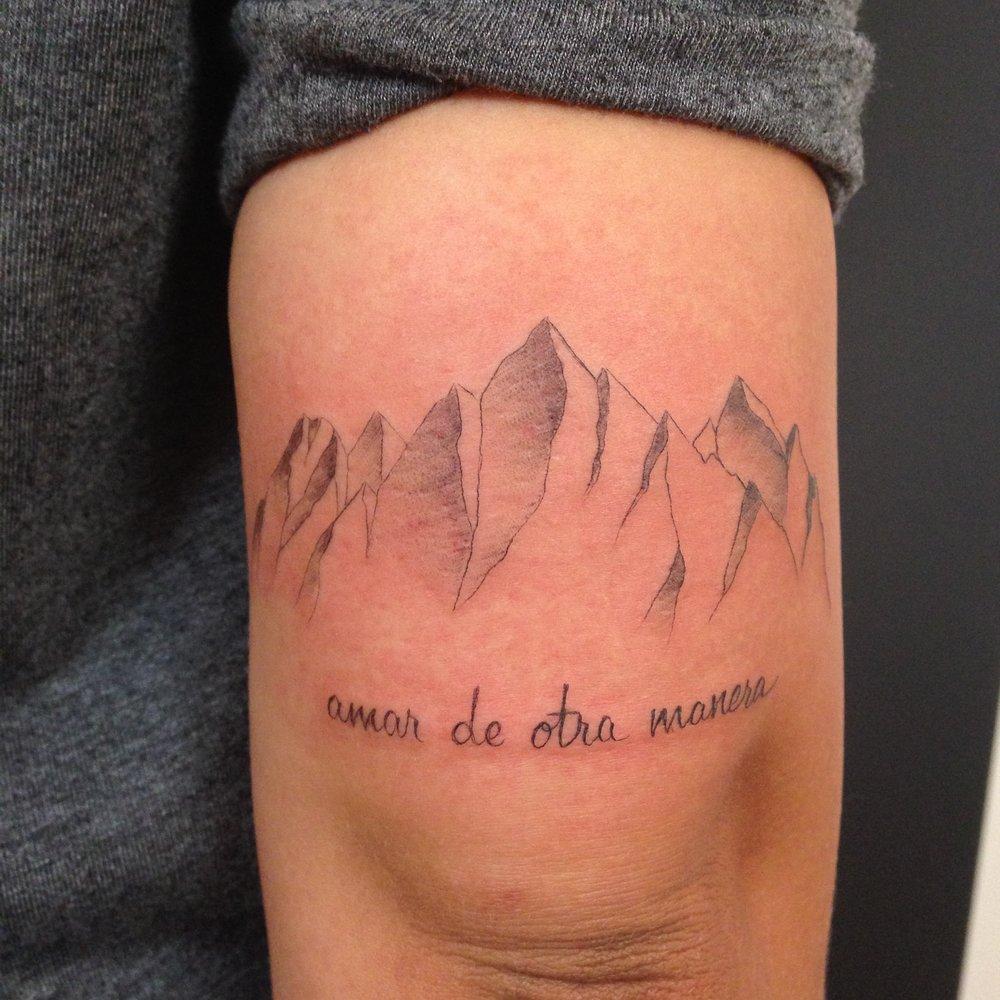 fine line single needle Justin Turkus Philadelphia best tattoo artist mountains lettering.jpg