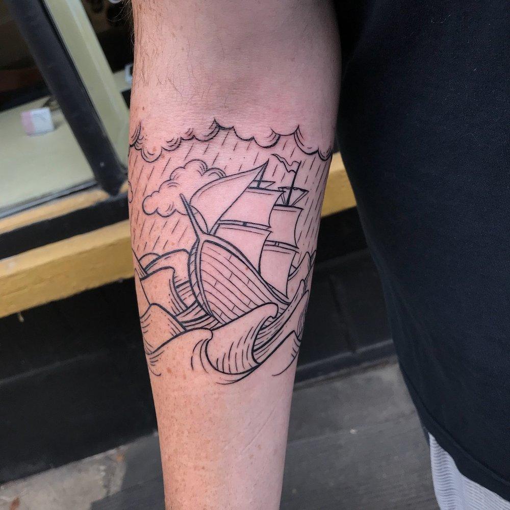 fine line single needle Justin Turkus Philadelphia best tattoo artist ship waves clouds 4.jpg