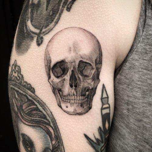 9bf56fc6f fine line single needle Justin Turkus Philadelphia best tattoo artist skull  casey anatomical.jpg