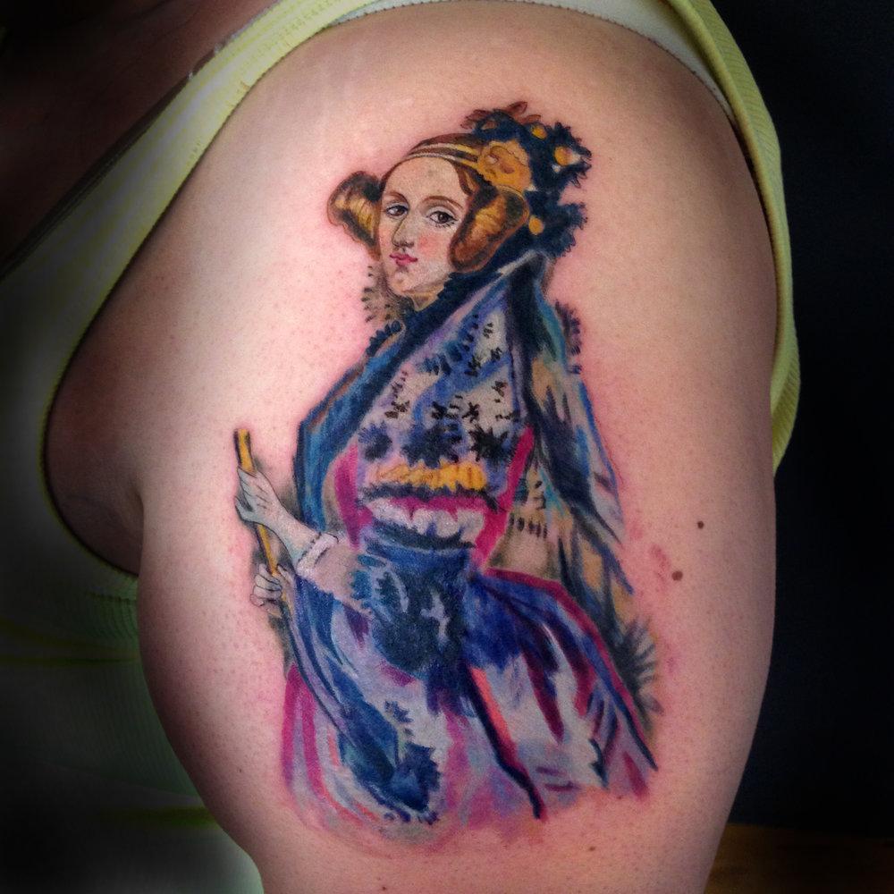 color Justin Turkus Philadelphia fine line lettering tattoo artist ada lovelace.jpg