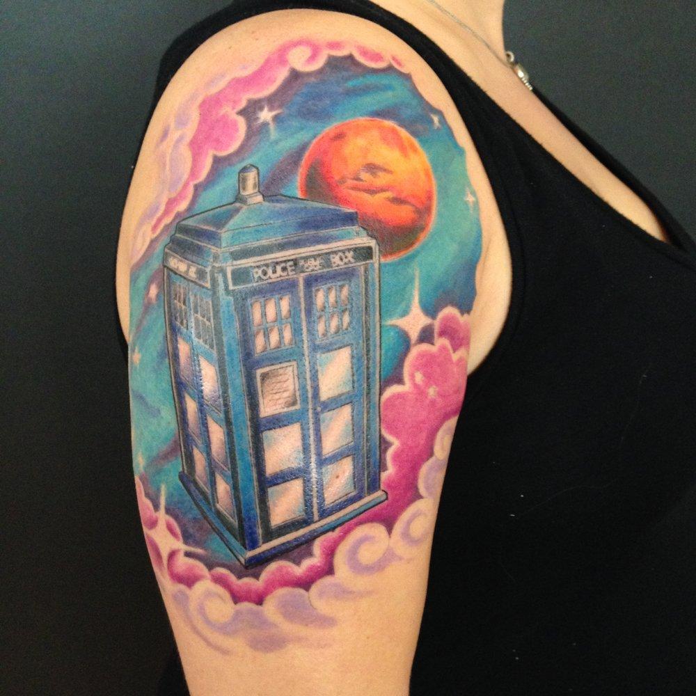 color Justin Turkus Philadelphia fine line lettering tattoo artist mars dr who tardis.jpg
