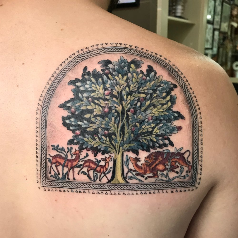 color Justin Turkus Philadelphia fine line lettering tattoo artist tree of life musa.jpg