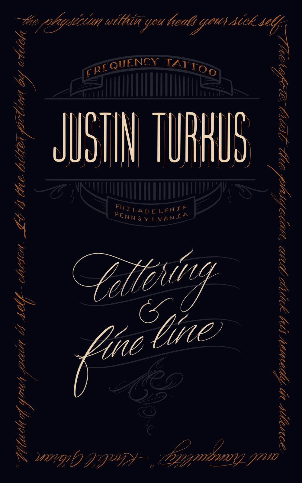 graphic design Justin Turkus Philadelphia tattoo artist banner convention lettering fine line frequency.jpg