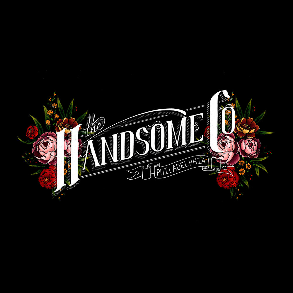 graphic design Justin Turkus Philadelphia tattoo artist the handsome company logo black.jpg