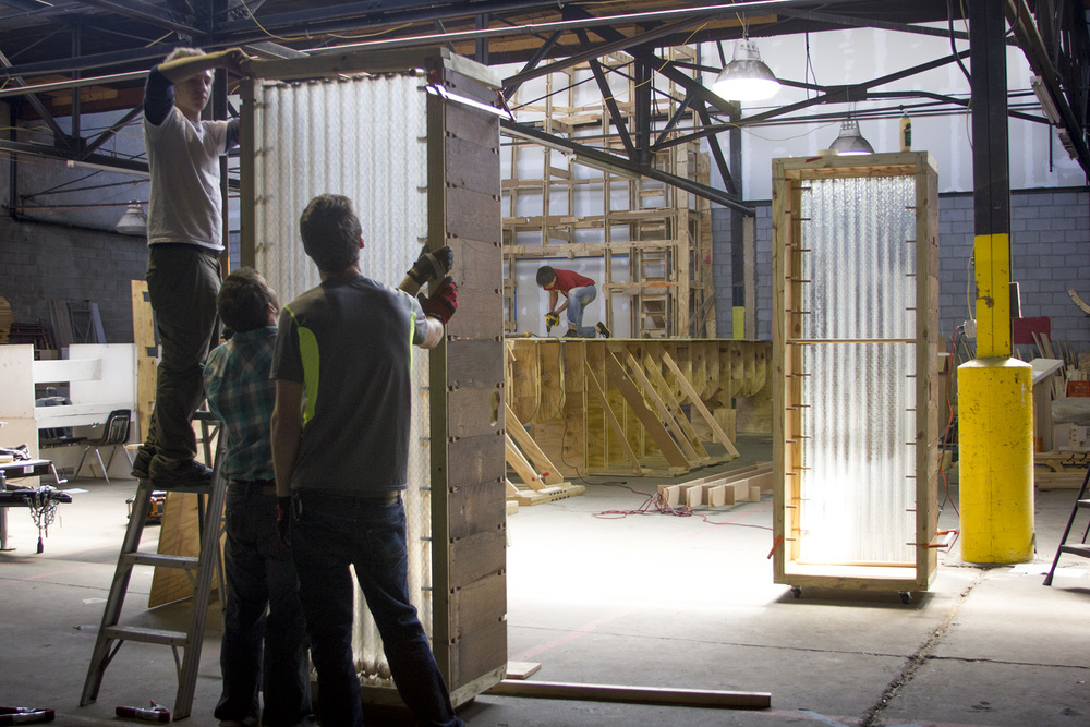 UDBS students install glass in prototype #2