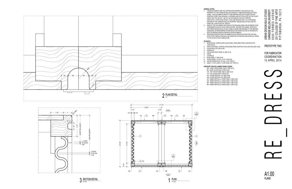 Plan and plan detail drawings