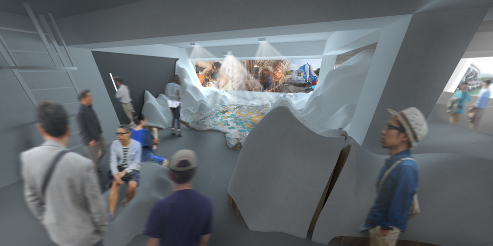 Exhibit design render.