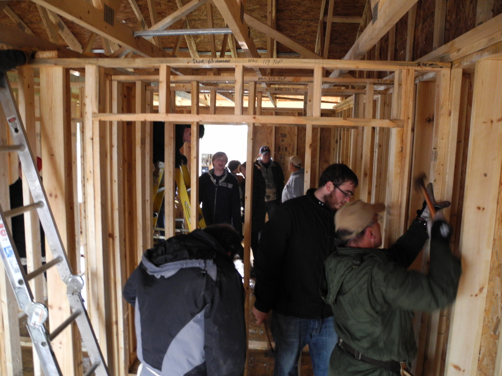 Students participated in a Habitat for Humanity Blitz Build event where they gained first hand experience with strategies for housing prefabrication.