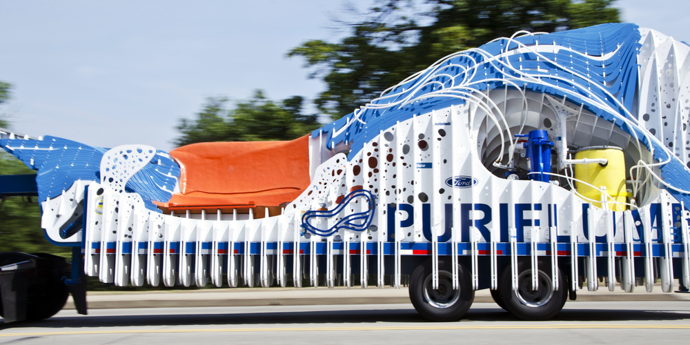 PURIFLUME in transit.