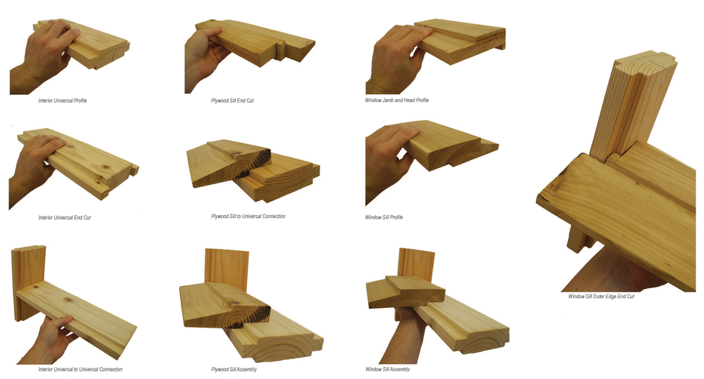 A limited number of lumber profiles were used for a variety of wall conditions.
