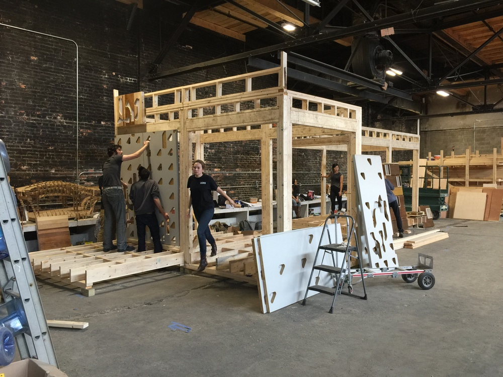 Students built shed framing and tested cladding prototypes