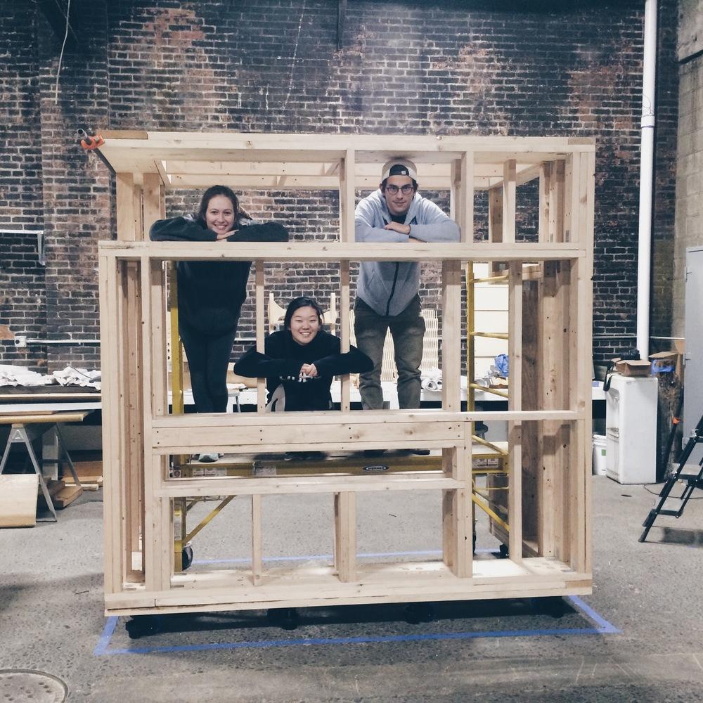 NAVADAPT frame built on casters