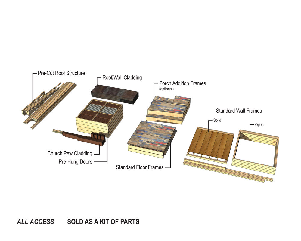 ALL ACCESS 01 is delivered to site as a prefabricated kit of parts