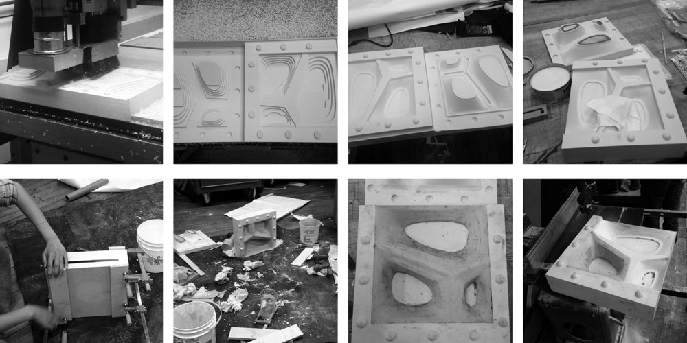 Cast Component Prototyping, Cy Kim + Meghan Chin (B.Arch 2018)