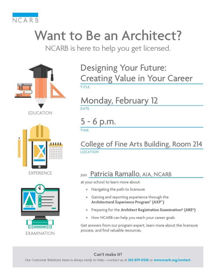 Ncarb Presentation Designing Your Future Cfa 214 Cmu School Of