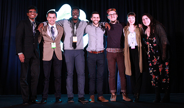 The 2018-19 AIAS Board of Directors; President-elect Amy Rosen pictured far right. Photo credit  AIAS .