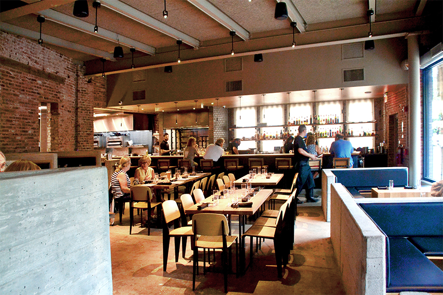Alumni Christine Brill and Jonathan Kline are earning praise for their design work around Pittsburgh, such as the new Superior Motors restaurant in Braddock, Pa.   Image: University Advancement