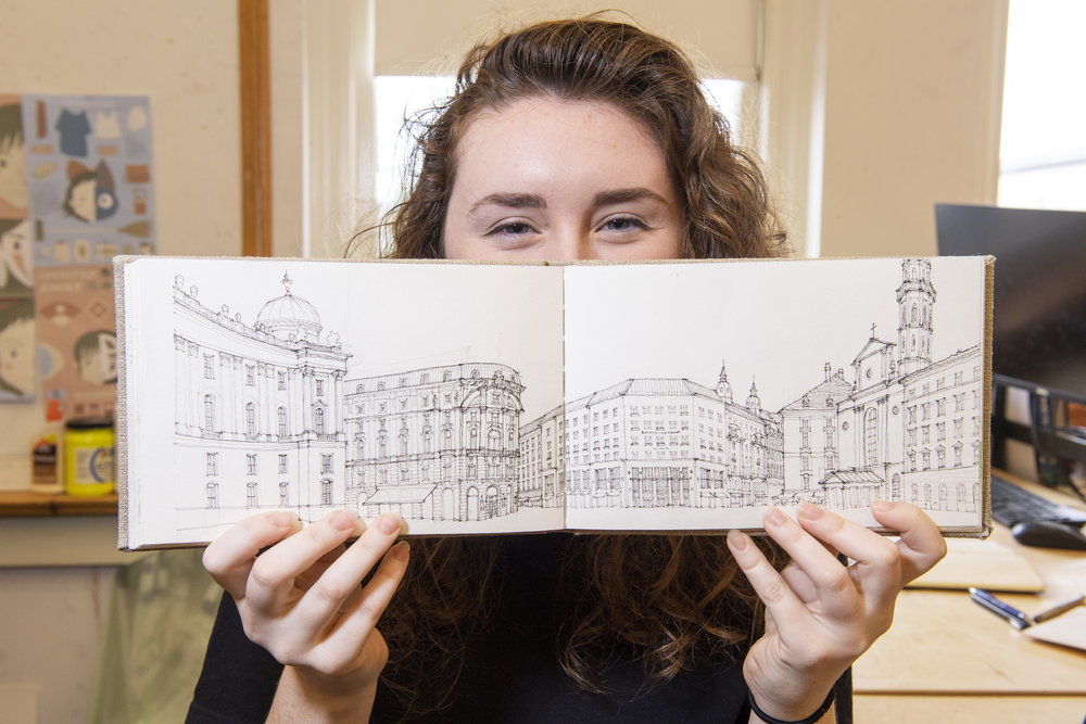 Master of Urban Design student Rebecca Lefkowitz received a study abroad scholarship earlier this year from the Marilyn and Ray Gindroz Foundation. Work conducted during her experience will be on display in the Gindroz Travel Prize Exhibition from November 16-17 in the College of Fine Arts' Kerr Conference Room.